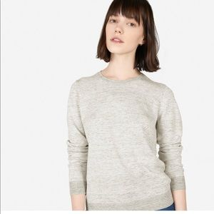Everlane Women's linen crew neck sweater L stripe